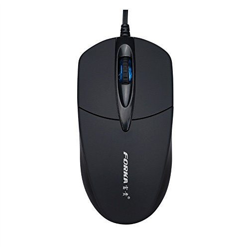 (MChoice❤️3 Button 1200 DPI USB Wired Silent Optical Gaming Mice Mouses for PC Laptop Black)