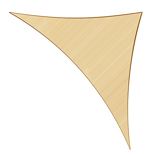 Sunlax 17' x 17' x 23' Sand Color Right Triangle UV Block Sun Shade Sail Canopy for Patio and Outdoor (Sail Shade Triangle Patio)