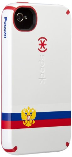 Speck Products Limited Edition iPhone 4S CandyShell Case, Russia Flag - 1 Pack - Carrying Case  - White/Red/Blue