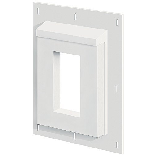 Builders Edge smr68p sturdimount Receptacle Mount Primed (5 Box) by Builders Edge