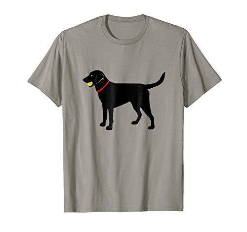 Labrador Retriever Fetch, Black Lab Play Ball T-Shirt ()