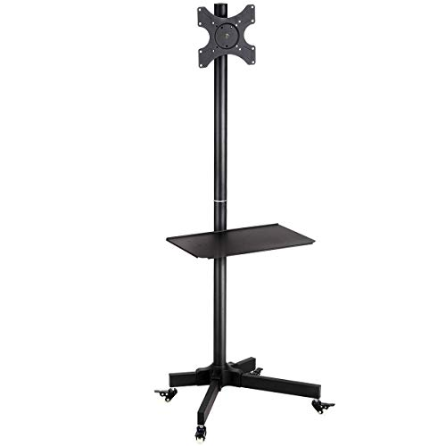 """Price comparison product image MRT SUPPLY 19"""" to 37"""" Plasma Flat LCD Screen TV Cart Stand with Ebook"""