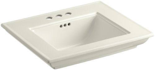Lavatory Memoirs Stately Biscuit (KOHLER K-2345-4-96 Memoirs Bathroom Sink Basin with Stately Design and 4