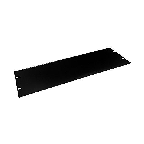 EdgeNet R03BP 3U Rackmount Blank Filler Panel for IT Racks and Cabinets, Solid Black, - Technology Rack