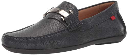 MARC JOSEPH NEW YORK Mens Leather Made in Brazil Bryant Park Driver Driving Style Loafer, Navy Grainy, 8.5 M US (Brazil Mens Shoes)