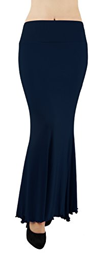 Skirt Stretch Waist Navy Daily Bodycon Elastic Party Cocktail Pencil High Falda 4how EqSfAS