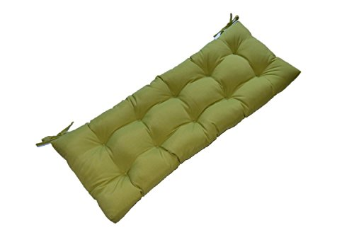 Kiwi Green Tufted Cushion for Bench, Swing, or Glider – Choose Select Size 72 x 18