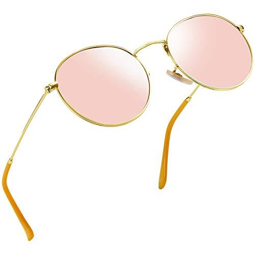 Joopin Vintage Round Sunglasses for Women Retro Brand Polarized Sun Glasses E3447 ()