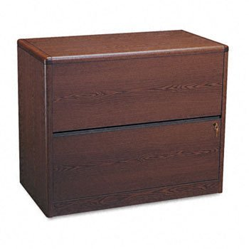 HON-10700 Series Two-Drawer Lateral File, 36W X 20D X 29-1/2H, Mahogany by HON
