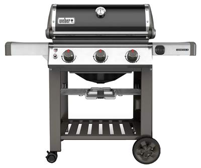 Weber 66010001 Genesis II E-310 Natural Gas Grill, Black, Three-Burner