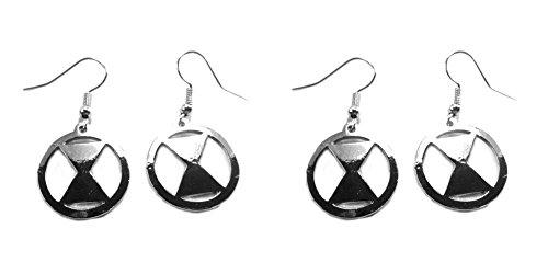 Black Widow Hourglass (Marvel Avengers Black Widow Hourglass Silver 2 Sets of Dangle Earrings w/Gift)