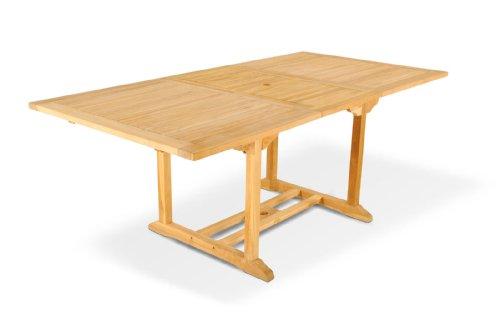 SAM® Teak-Holz Gartentisch, Ausziehtisch Caracas, massiver Holztisch bis 200 cm Länge, Platz für die ganze Familie, ideal für Ihren Balkon, Terrasse oder Garten