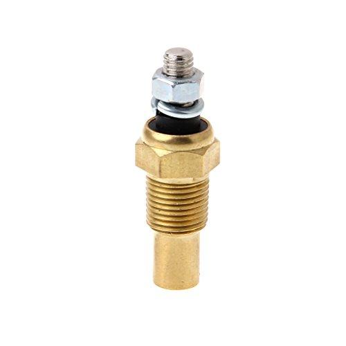 Bottone 1/8 NPT Temperature Temp Sensor Water Oil Unit Sender Gauge Electric Sender VDO ()