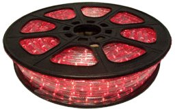 CBconcept 12VLR-65FT-R Red 65-Feet Low Voltage 12-volt 2-Wire 1/2-Inch LED Rope Light, Christmas Lighting, Indoor/Outdoor Rope Lighting