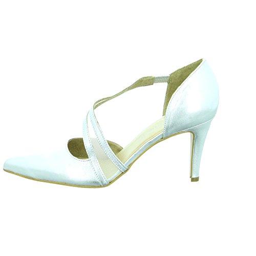 Tamaris - Zapatos de vestir para mujer plateado plata
