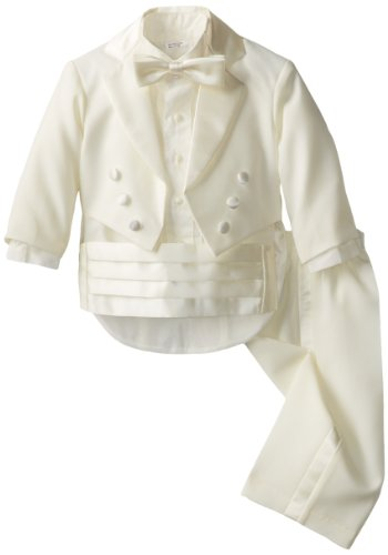 - Joey Couture Baby Boys' Tuxedo Suit Tail, Ivory, 6 Months/Small