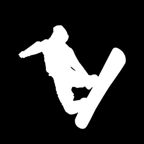 Snowboard Union Pants (Snowboarder Decal Vinyl Sticker|Cars Trucks Vans Walls Laptop| White |5 x 5.25 in|CCI1227)