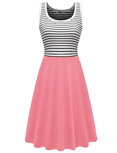 Herou Tank Sleeveless Summer Dresses for Women Strawberry Pink Small
