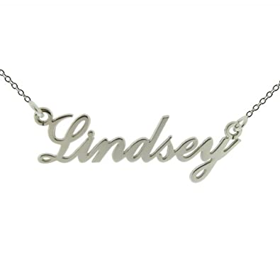 Personalised Name Necklace - 925 Sterling Silver ANY NAME with 16