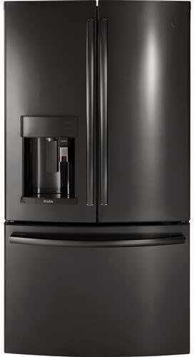 GE Profile PFE28PBLTS 36 Inch Smart French Door Refrigerator with 27.8 cu. ft. Total Capacity in Black Stainless Steel