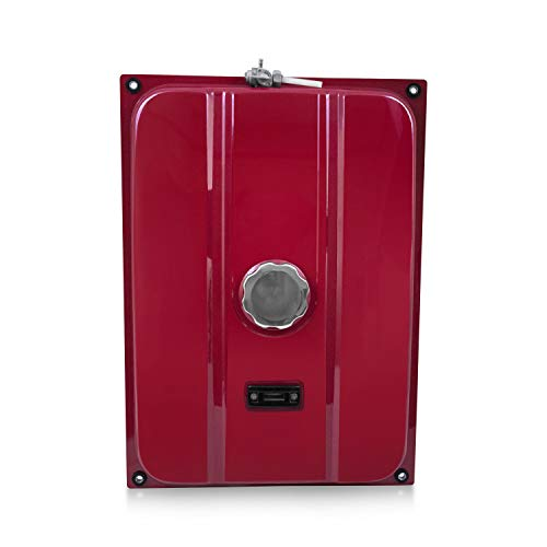Everest Parts Supplies New Red Universal Generator 7 Gallon Gas Fuel Tank with Chrome Cap and Fuel Valve Fits 26.5 Liters