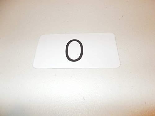 101 Laminated Preschool Numbers 0-100 Flashcards.