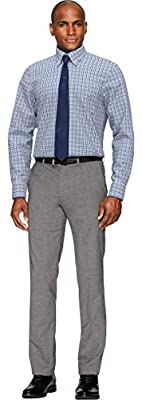 Buttoned Down Men's Classic Fit Check Non-Iron Dress Shirt