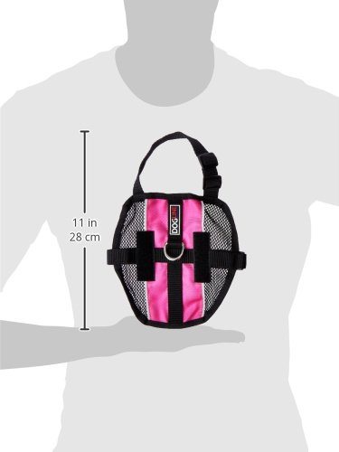 Dogline MaxAire Multi-Purpose Mesh Vest for Dogs and 2 Removable Emotional Support Patches, Small, Pink by Dogline (Image #4)