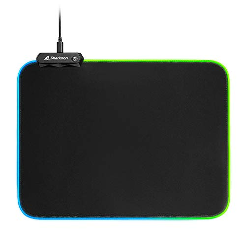 Sharkoon 1337 RGB V2 360 Gaming Mauspa, Negro