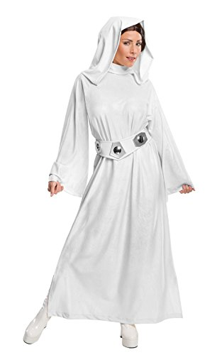 Women's Star Wars Classic Deluxe Princess Leia Costume, White, Small