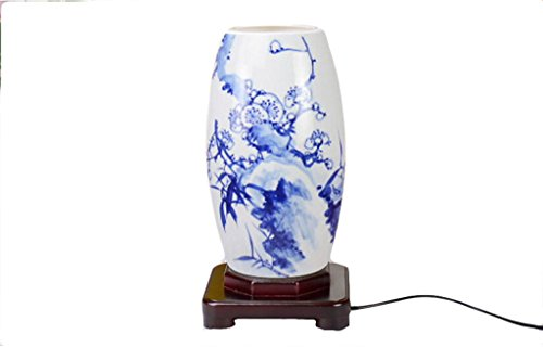Generic Porcelain Table Lamp Blue Bamboo Pattern Color - Lamp Table Bamboo Porcelain