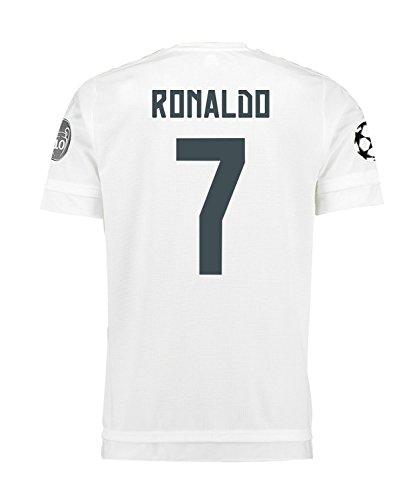 シネウィ天に向けて出発Adidas Ronaldo #7 Real Madrid UEFA Champions League Home Jersey 2015-16 -YOUTH/サッカーユニフォーム レアル?マドリード ホーム用 ロナウド 背番号7 UEFAチャンピオンズリーグ 2015 ジュニア向け