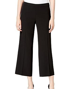 Calvin Klein Women's 16X26 Wide Leg Ankle Dress Pants Black 16