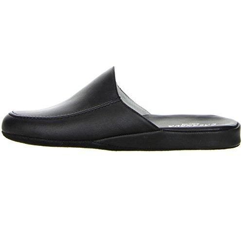 CASANOVA Herren Hausschuhe schwarz, Größe:46;Farbe:Schwarz