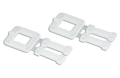 Partners Brand PPS12PLBUCK Plastic Buckles Poly Strapping Buckles White 1//2 Pack of 1000