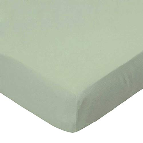 SheetWorld FLAT Crib / Toddler Sheet - Flannel - Sage - Made In USA ()