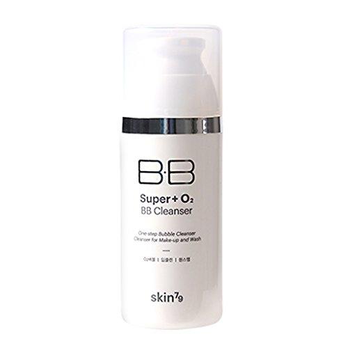 [SKIN79] Super Plus O2 BB Cleanser 3.38 fl.oz. (100g) - Active Oxygen Hydrating Bubble Foam Cleanser for Sensitive Skin, Sebum & Blackhead Out Soft Exfoliation