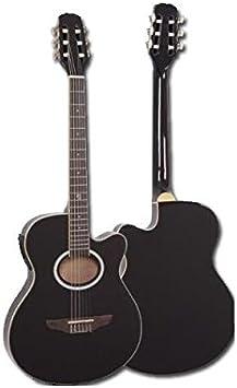 Guitarra Electroclásica Super Flat Memphis Negra A95Ncetb: Amazon ...