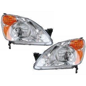Honda CRV Headlights Headlamps Set New Pair