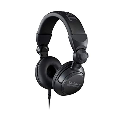 New Technics Professional DJ Headphones with 40mm CCAW Voice Coil Drivers, 270° Swivel Housing and ...