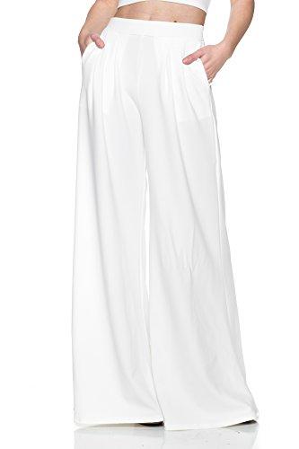 Wide Leg Palazzo Pants - Women's J2 Love Wide Leg Palazzo Pants, Small, White