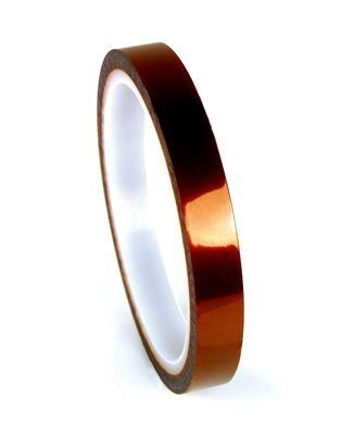 3M Polyimide Film Electrical Tape 1205, Amber, Acrylic Adhesive, 1 mil film, 7/8 in x 36 yd, 11 per case ()