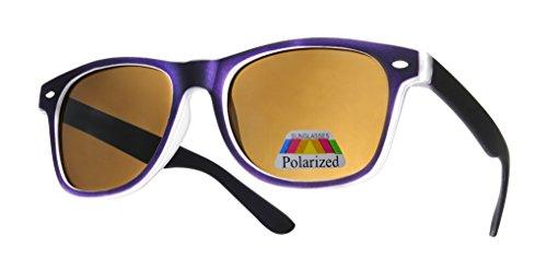 Gafas Hombre UV400 Retro Completo Para y de cristal rubi polarized Mujer Para Diseño Moda de espejo purple Sol con 4sold efecto Lente nF7xqwvW