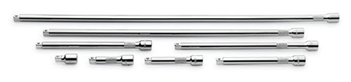 SK 4538 8 Piece 1-1/2-Inch, 3-Inch, 4-Inch, 6-Inch, 8-Inch, 10-Inch, 18-Inch and 24-Inch 3/8-Inch Drive Extension Set Drive Superkrome Extension Set