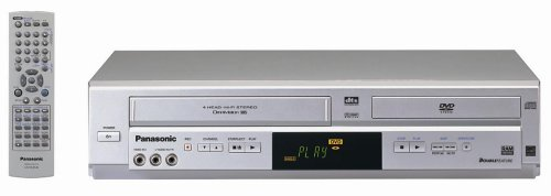 Check Out This Remanufactured Panasonic PV-D4734S Double Feature Progressive Scan DVD/VCR Combo