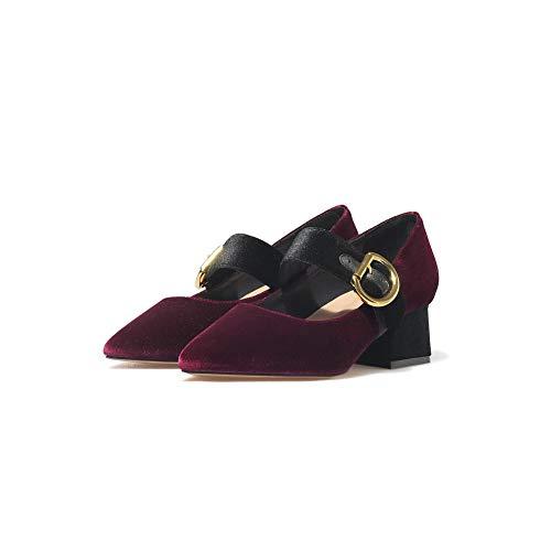 Aimint 36 ERR00064 Bordeaux Rouge Femme Compensées 5 EU Sandales wwYxrA