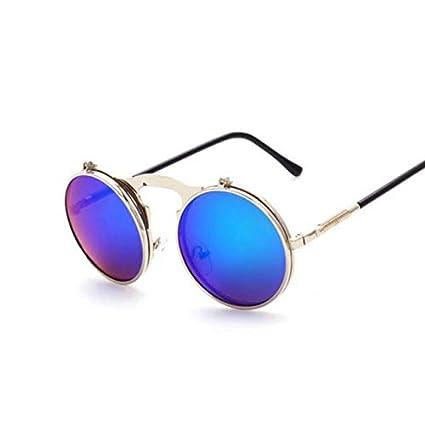 Amazon.com: Kasuki Vintage Male Sunglasses Round Designer ...