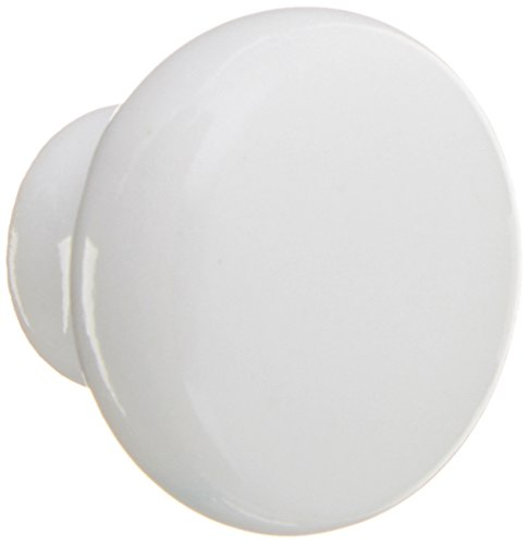 Amerock BP5321-54 Allison Value Hardware White Ceramic Round Cabinet Hardware Knob - 1-3/16