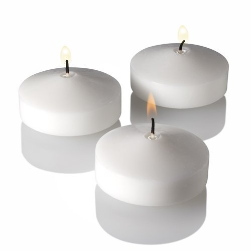 Richland 3'' Floating Candles White Unscented Set of 48 by Richland (Image #4)