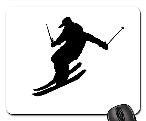 (Mouse Pad - Ice Skating Sport Winter Mountain Falling Zig Zags)